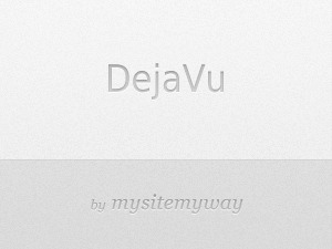 Dejavu (Modified) WordPress template