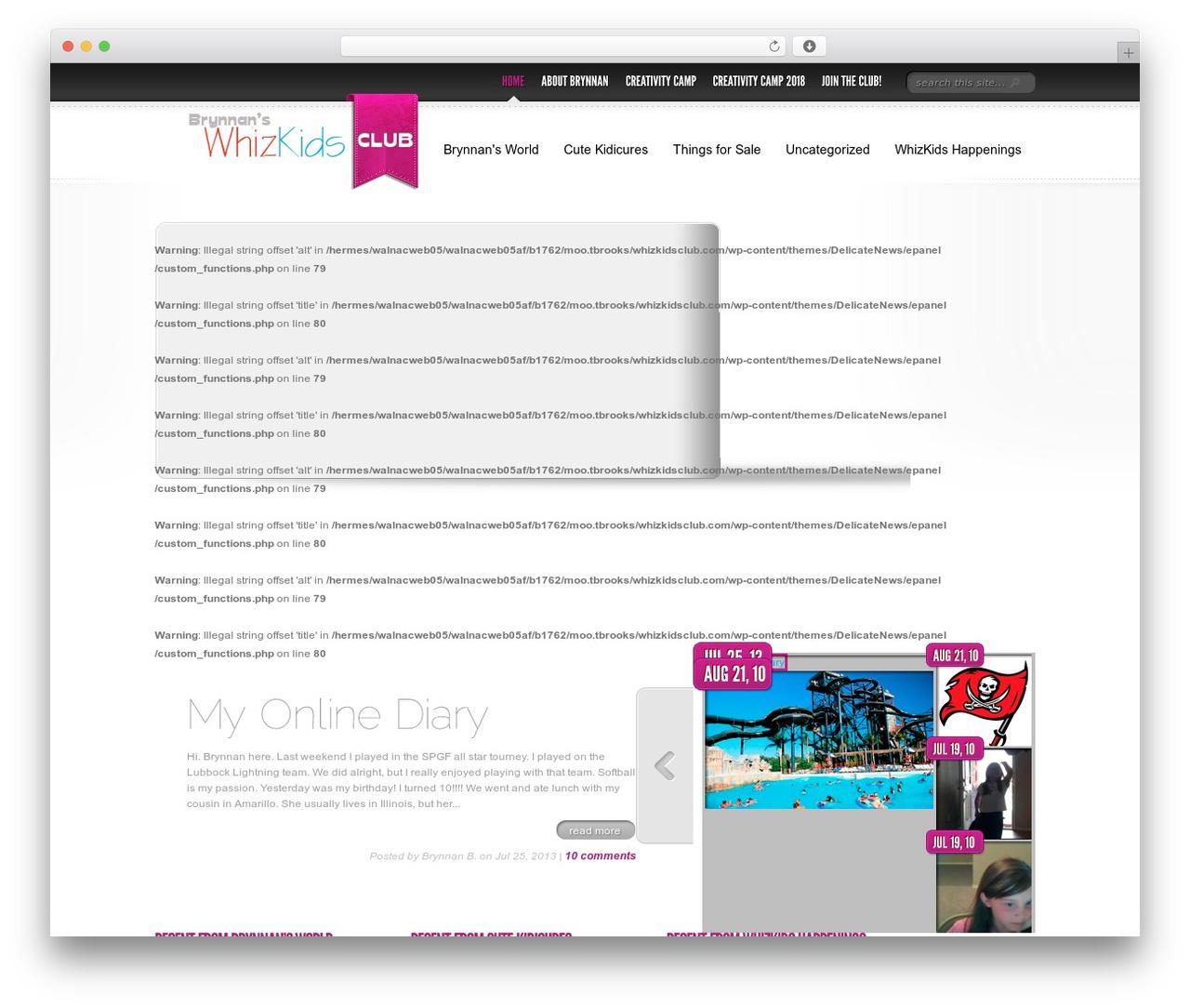 Delicate News WordPress magazine theme - whizkidsclub.com