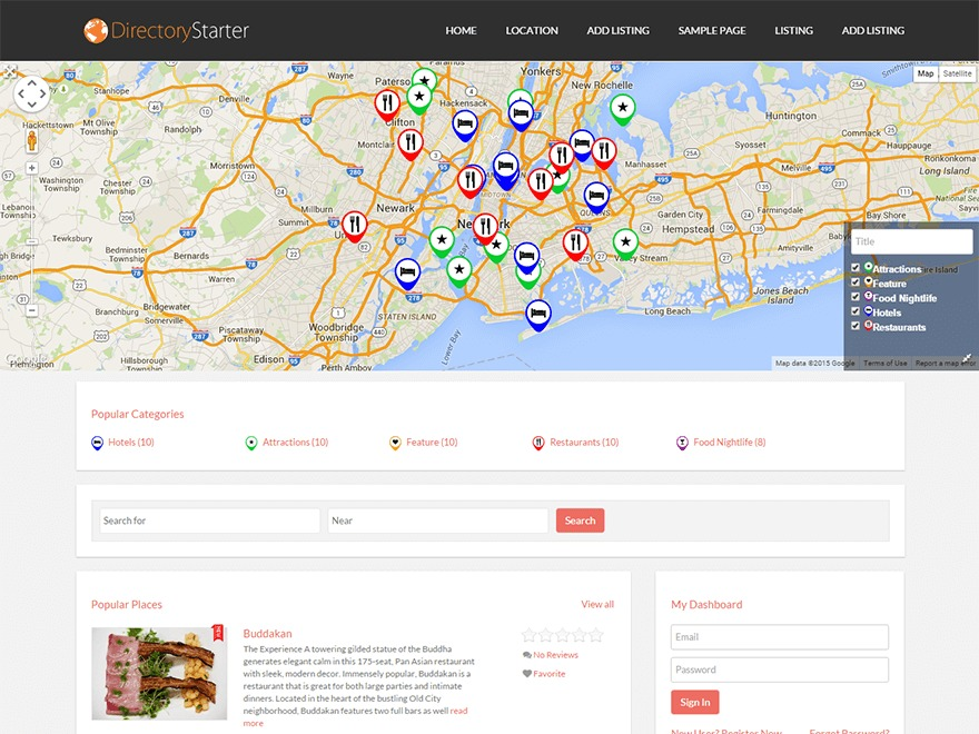 Directory Starter template WordPress free