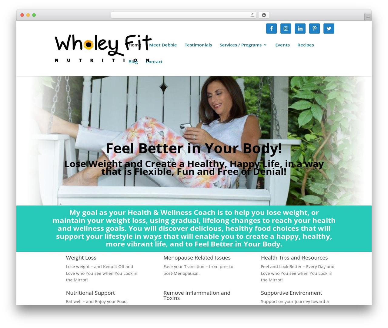 Divi WordPress theme - wholeyfitnutrition.com