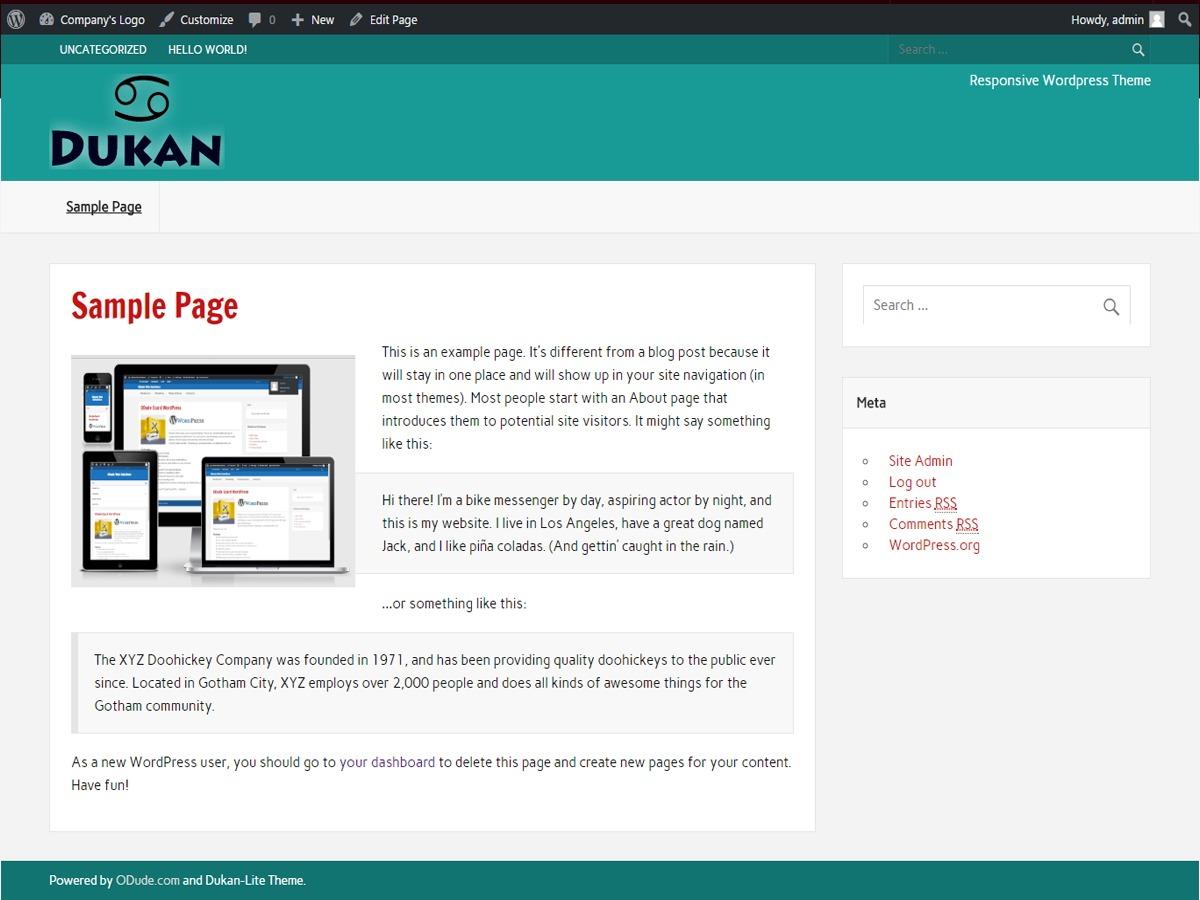 Dukan Lite newspaper WordPress theme