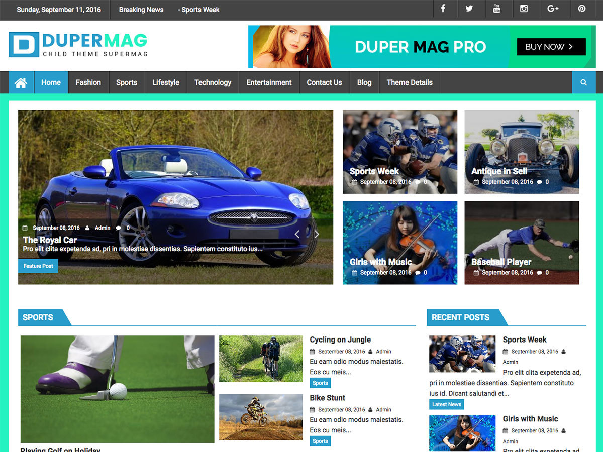 DuperMag free website theme