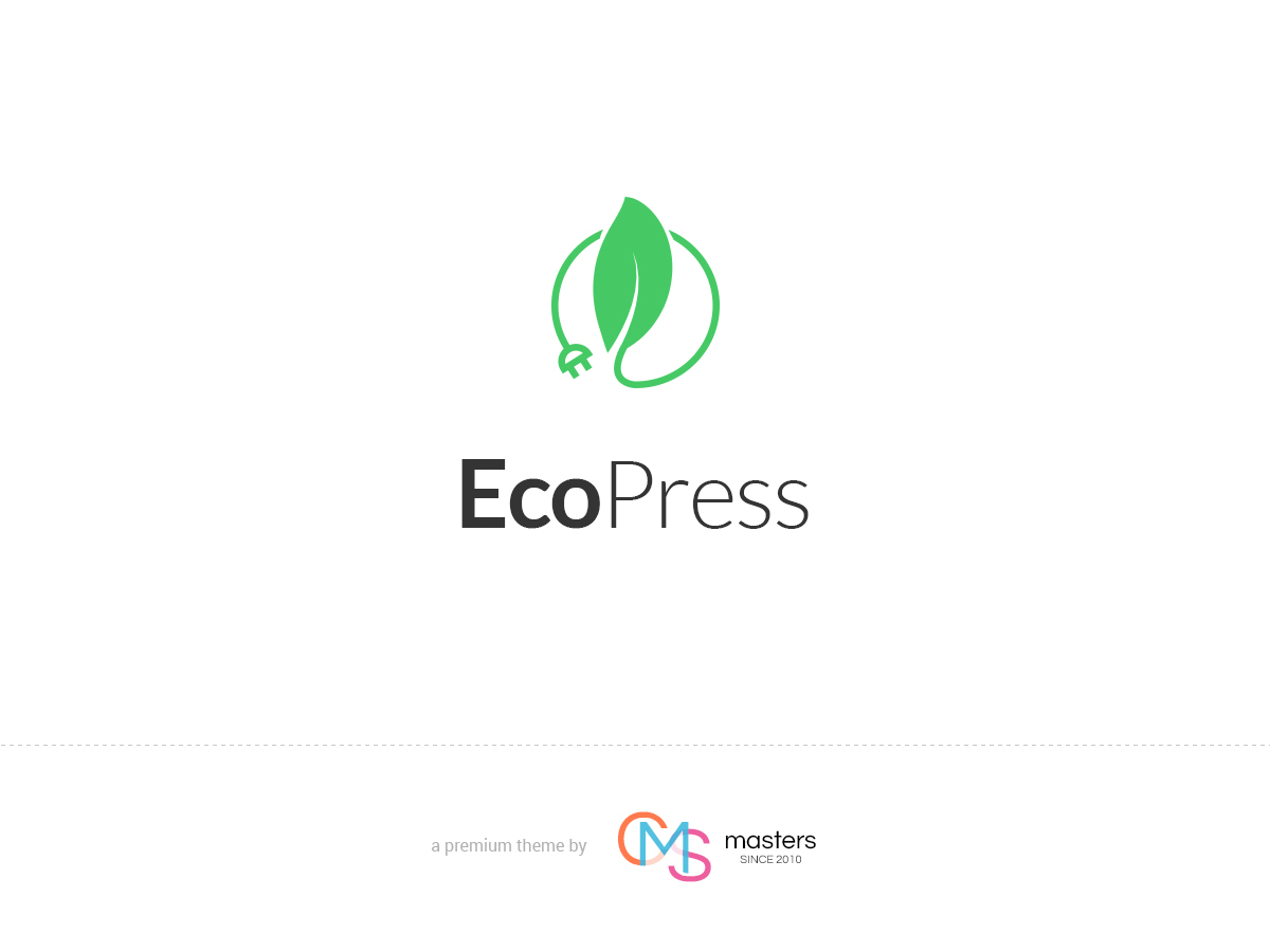 Eco Press WordPress portfolio theme
