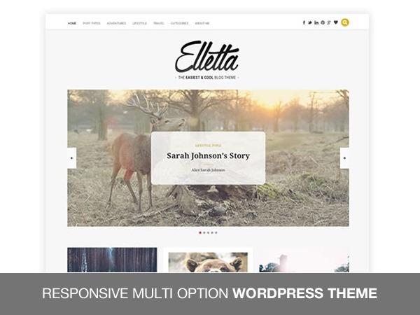 elletta WordPress blog template