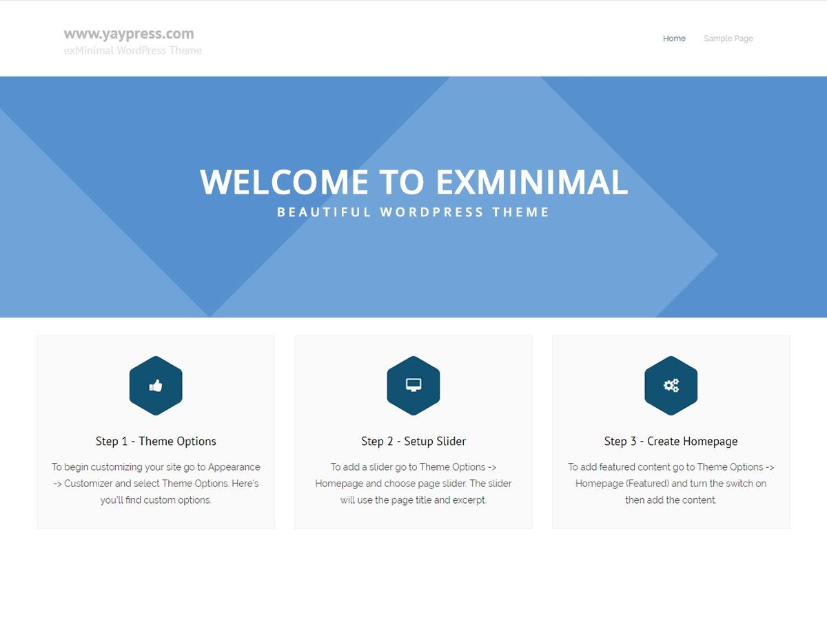 exMinimal WordPress portfolio theme
