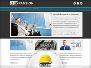 Expansion - Blue best WordPress theme