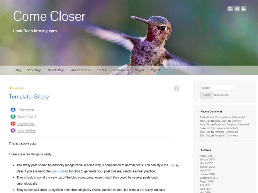 Fixy WordPress blog theme