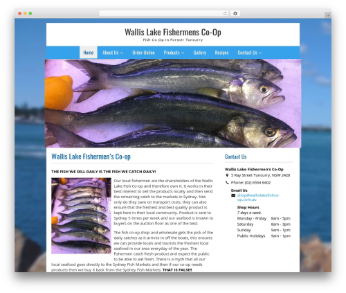 Fresh And Clean template WordPress - wallislakefishco-op.com.au/wp