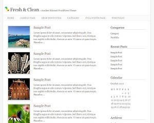 Fresh And Clean WordPress theme