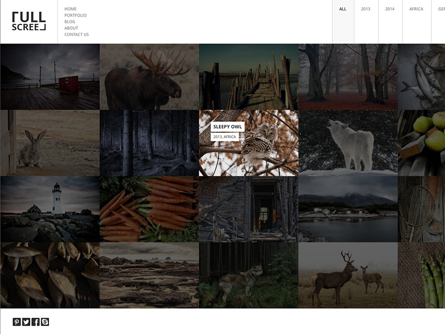 FULLSCREEN top WordPress theme