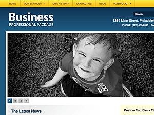 Gallerific WordPress website template
