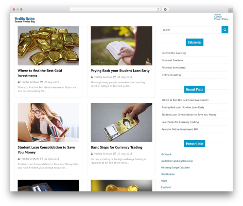 Good News Lite WordPress magazine theme - wealthynation.org
