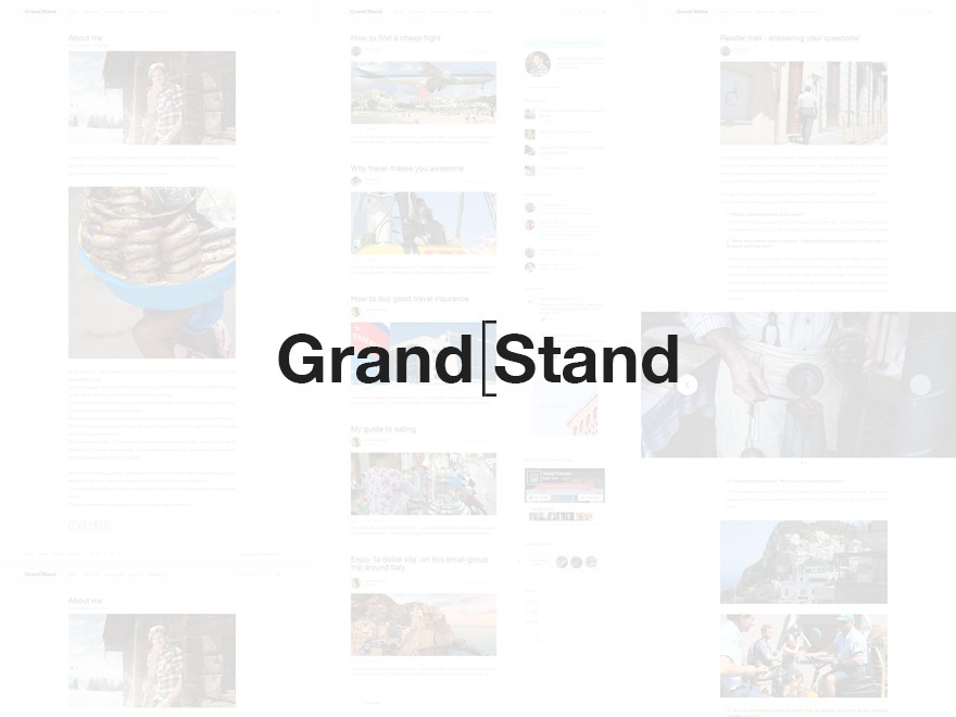 GrandStand WordPress theme