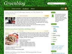 Greenblog WordPress blog template