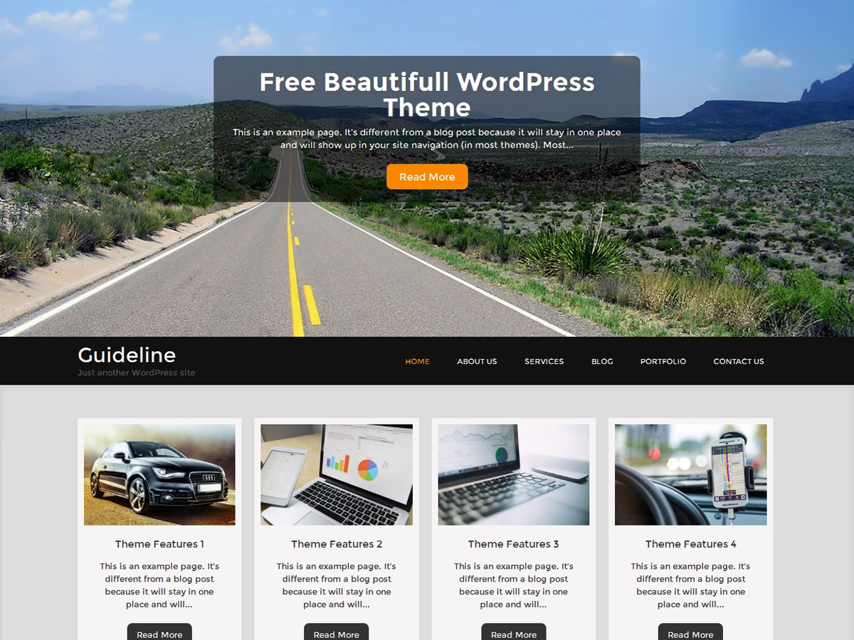 Guideline theme WordPress free