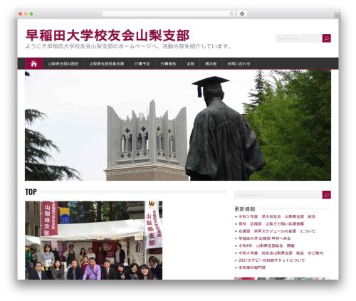 Free WordPress Theme My Login plugin - waseda-yamanashi.com