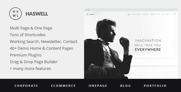 Haswell Child WordPress news template