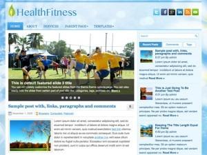 HealthFitness fitness WordPress theme