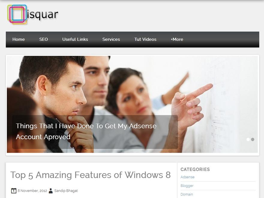 Isquar top WordPress theme