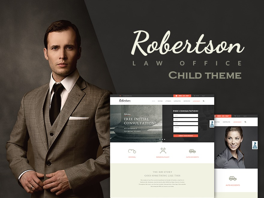 Law Office Child template WordPress