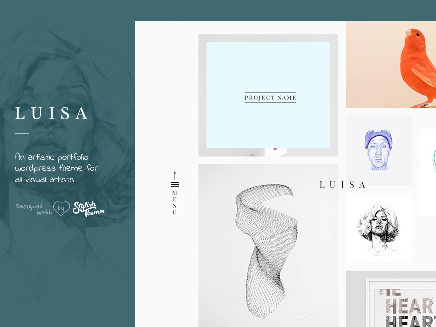 LUISA personal WordPress theme
