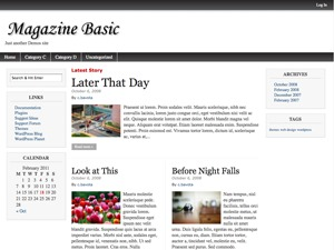Magazine Basic Child WordPress news template