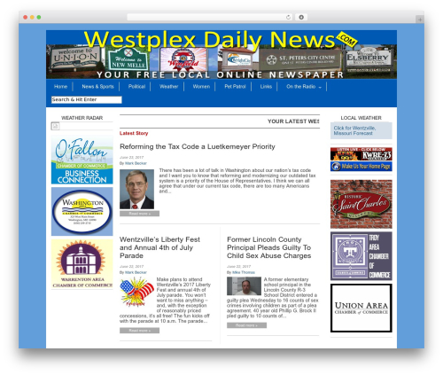 Magazine Basic WordPress template free download - westplexdailynews.com