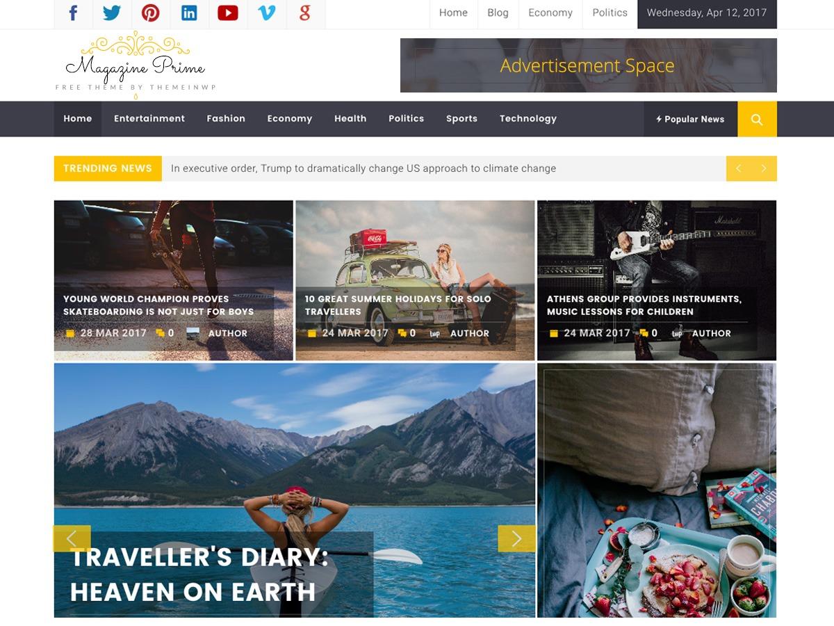 Magazine Prime WordPress free download