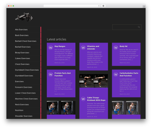 Metro CreativeX WordPress theme - weighttrainingexercises4you.com
