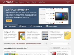 Modulus top WordPress theme