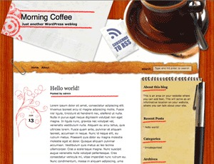 Morning Coffee WordPress news template