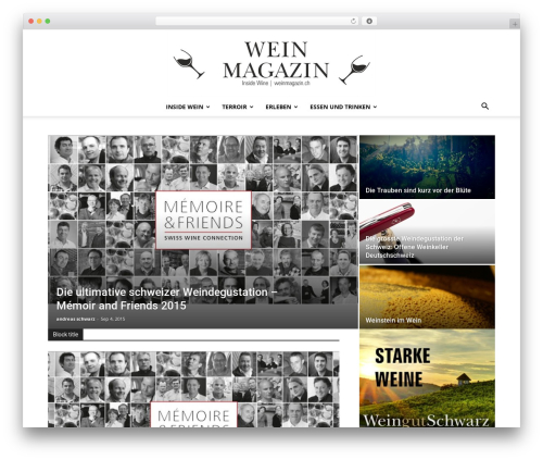 Newspaper template WordPress - weinmagazin.ch