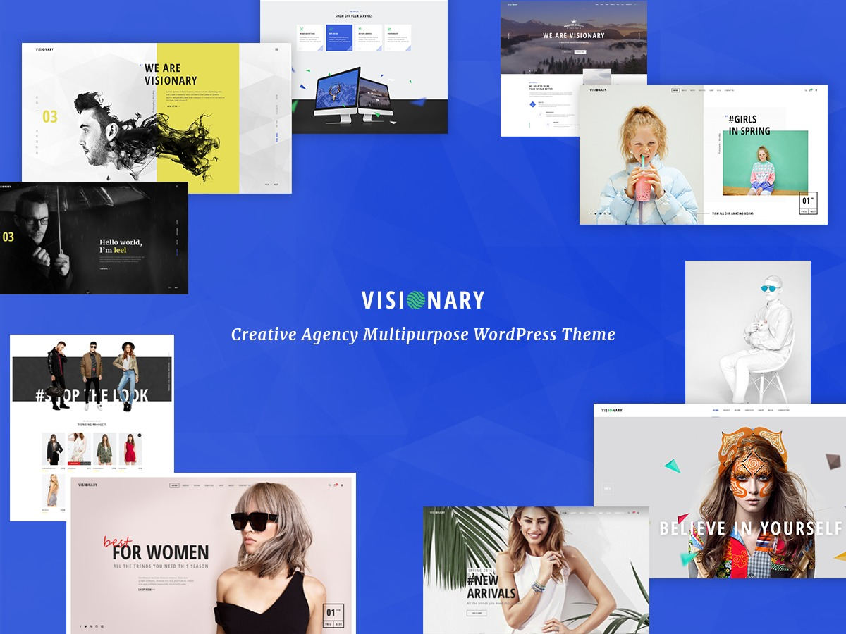 Noo Visionary personal WordPress theme