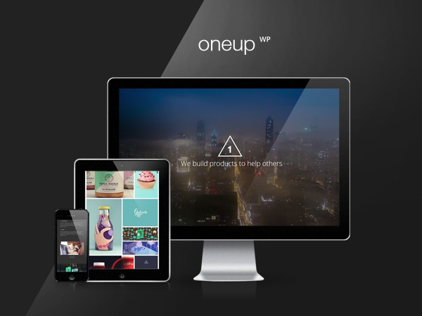 OneUp Child WordPress page template
