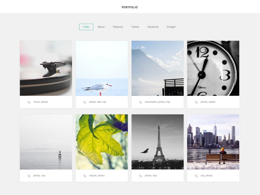 Portfolio WordPress gallery theme