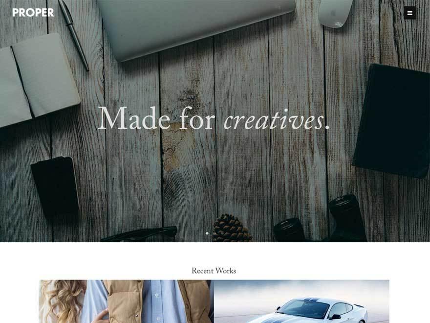 Proper Lite best free WordPress theme