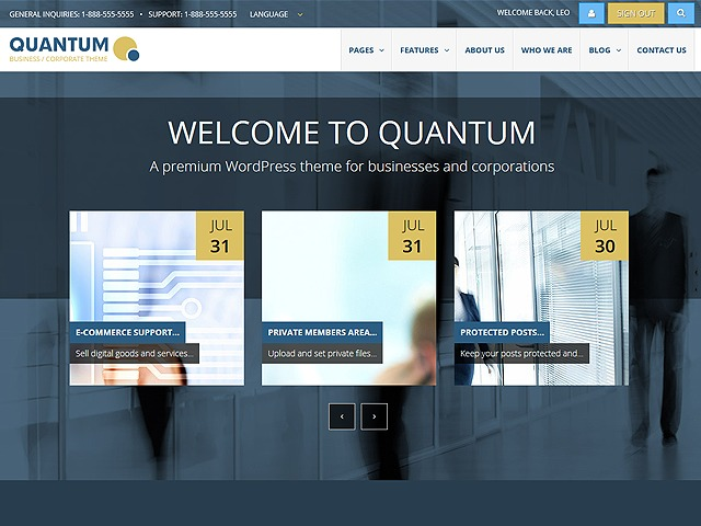 QUANTUM - Business WordPress Theme company WordPress theme