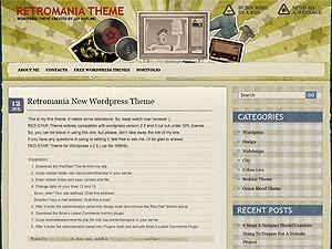 Retromania WordPress blog theme