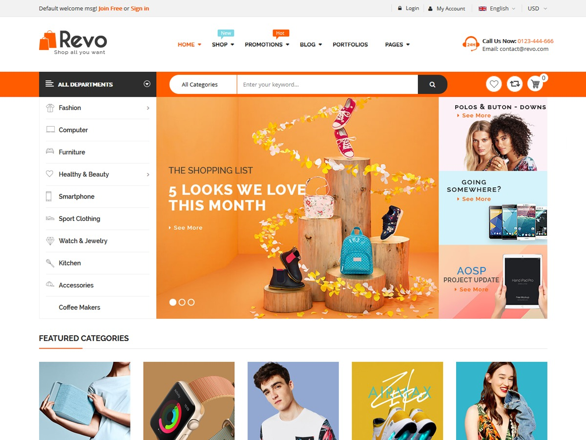Revo WordPress shop theme