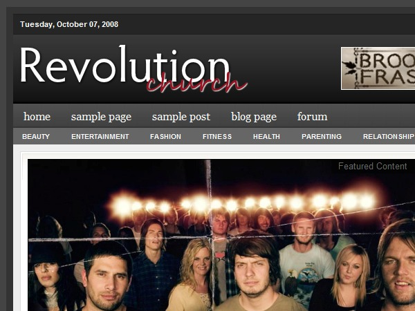 Revolution Church theme WordPress