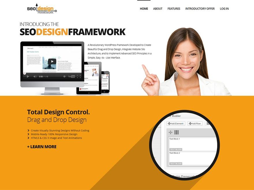 SEO Design Framework wallpapers WordPress theme