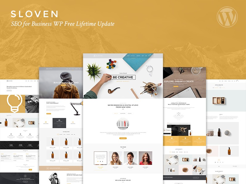SLOVEN Child company WordPress theme