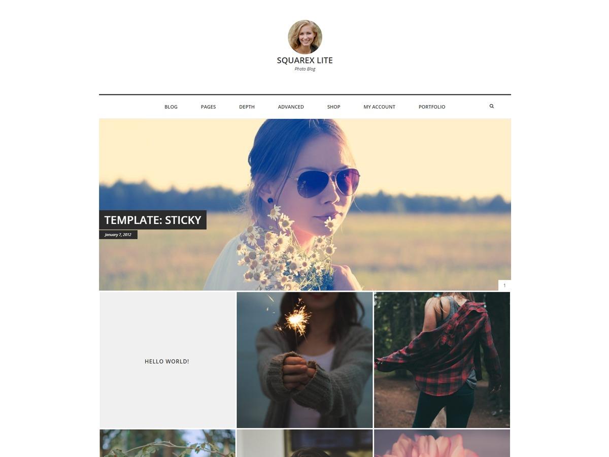 Squarex Lite free WP theme