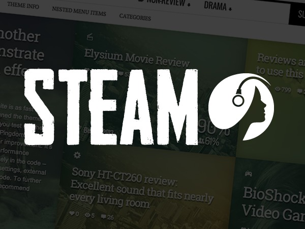 Steam WordPress page template