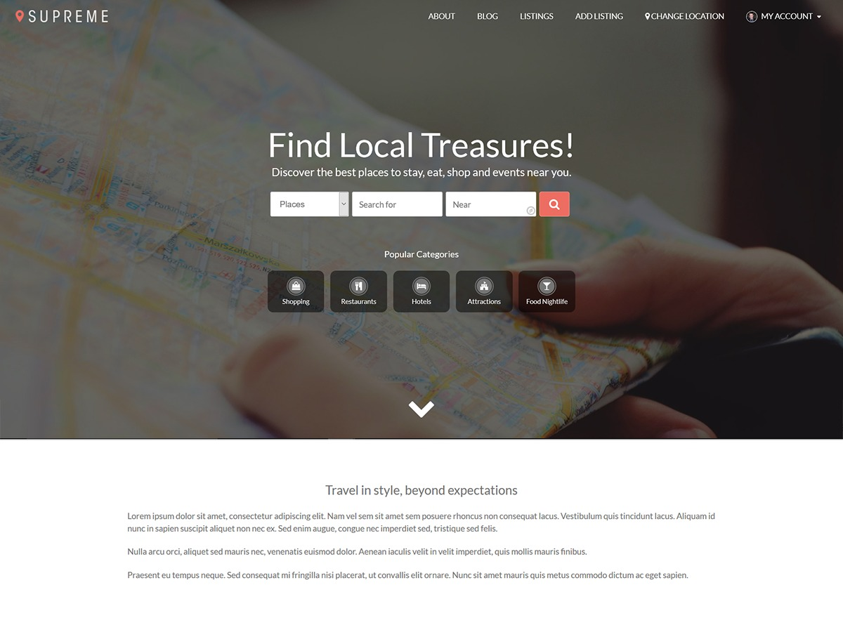 Supreme Directory theme free download