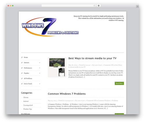 Swiftray Pro Responsive Theme WordPress template - win7problems.com