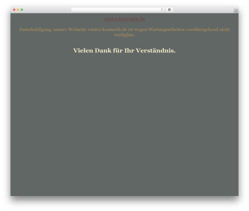 tegude WordPress theme - winter-kosmetik.de