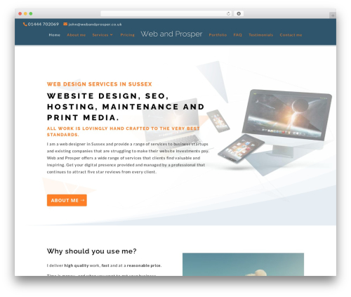 Template WordPress Divi - webandprosper.co.uk