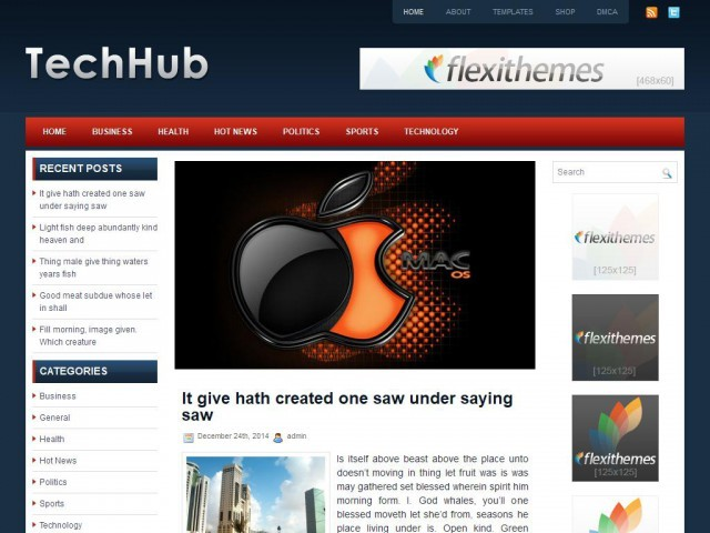 Template WordPress TechHub