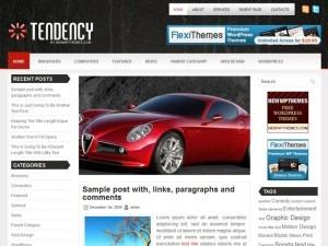 Tendency WordPress website template